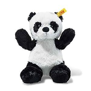 Steiff 75766 Panda - Peluche de Oso (18 cm), Color Blanco y Negro