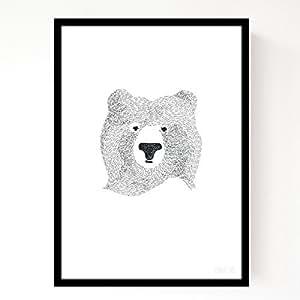 Affiche Bear of Few Words A4 - SEVENTY TREE