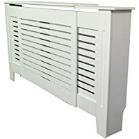Painted Radiator Cover Radiator Cabinet Modern Style White MDF - Adjustable - 1300mm upto 1950mm