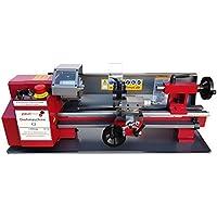 große Ausführung: PAULIMOT Drehmaschine SIEG C2 mit 230 Volt Motor 250 Watt 100 mm Futter 400 mm Spitzenweite