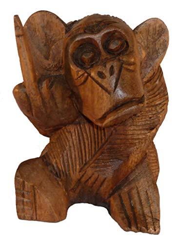 generisch AFFE mit Stinkefinger Figur als Gag, Dekoration, Geschenkartikel 10cm