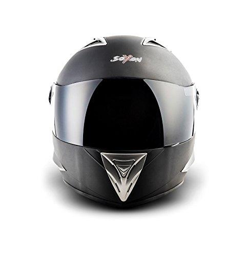 SOXON ST-550 Fighter · Integral-Helm Scooter-Helm Urban Motorrad-Helm Roller-Helm Cruiser Sport Helmet Sturz-Helm · ECE zertifiziert · inkl. Sonnenvisier · inkl. Stofftragetasche · Schwarz · XS (53-54cm) - 2
