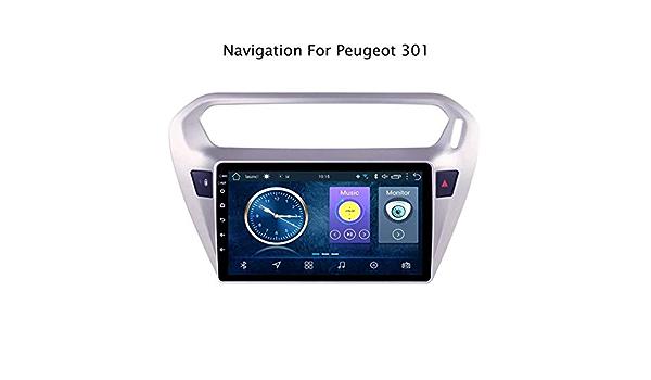 Equipado con una CPU Quad Core de 1.2 GHz,WiFi:1+16g ZNSH Radio del Coche para Peugeot 301 Citroen Elysee 2014-2018 Android 8.0 HD 9 Pulgadas Soporte de navegaci/ón GPS 4G e Internet WiFi