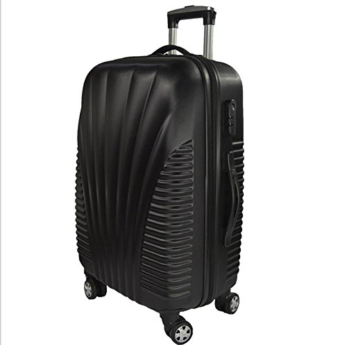 Xiuxiandianju ABS materiale esterno viaggio bagagli Trolley Case 20/24/28 pollici partita caso SuitcaseColour & formato differente (56-75L) Black