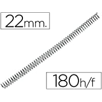 Q-Connect Espiral Metálico 56 4:1 22Mm 1,2Mm Caja De 100 Unidades