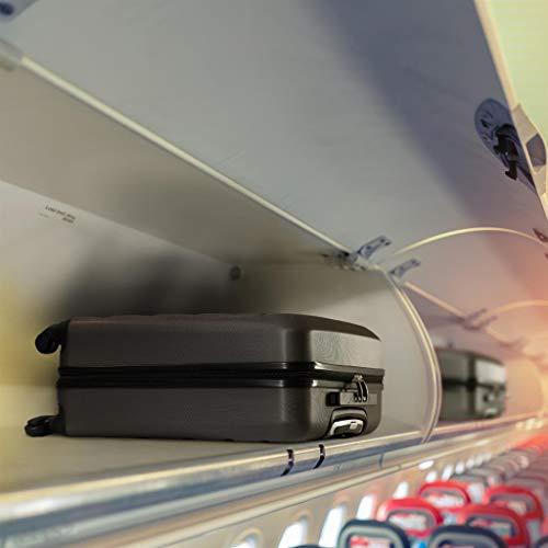 Aerolite ABS Bagage Cabine Bagage à Main Valise Rigide Légere à 4 roulettes, Approuvées pour Ryanair, Easyjet, Air France, Lufthansa, Jet2, Monarch et Plus, Gris Foncé