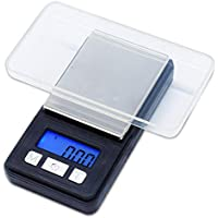 Womdee - Báscula Digital de Bolsillo portátil con Pantalla LCD retroiluminada, 200 x 0,