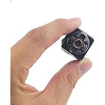 Mengshen® HD 1080P 30fps Digital Pocket Video Recorder videocámara de la cámara Ultra-Mini DV metal Soporte detección de movimiento con visión nocturna por infrarrojos MS-SQ8Black