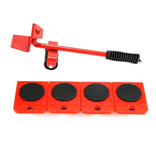 TiooDre Heavy Meubles Shifter Lifter Roues kit déménagement Slider élévateur de Meubles Mover Outil 5pcs