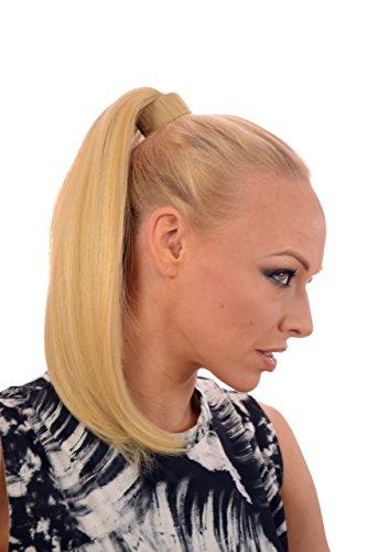 Gold Blond 38cm langer Snap Band Pferdeschwanz| Seidig glatter Pferdeschwanz | Mehrfarbige Haarschattierungen (Lange Snap)