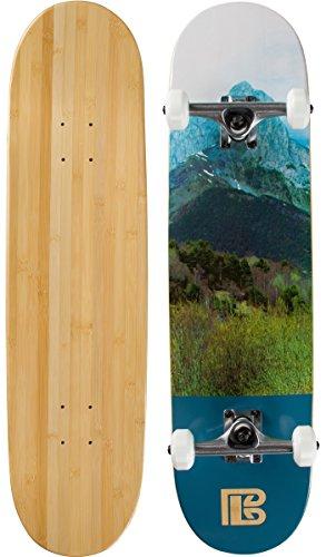 Bambus Skateboards Mountain Graphic komplett Skateboard, natur