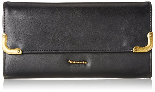 Tamaris Damen Calista Big Wallet with Flap Geldbörse, (Black), 2x10x19,5 cm