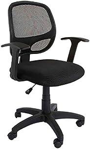 Mahmayi Metal/Wood Nebula Task Chair, CX0143BL, Black, H 96.5 x W 48 x D 48 cm