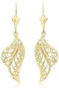 Carissima Gold Boucles d'Oreille Femme - Or Jaune 375/1000 (9 Cts) 1.06 Gr - Verre