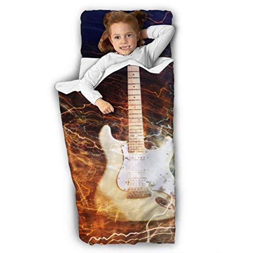 Jazz Rock Cool Guitarra eléctrica para niños Esteras para siesta para niños en edad preescolar Estera para siesta para niños...