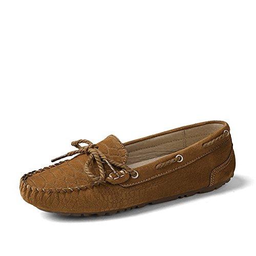 Ziehen Artifizielles Schuhe Schweinsleder Gelb Rein VogueZone009 Auf Damen Absatz Ohne Flache tzIPwqv5w