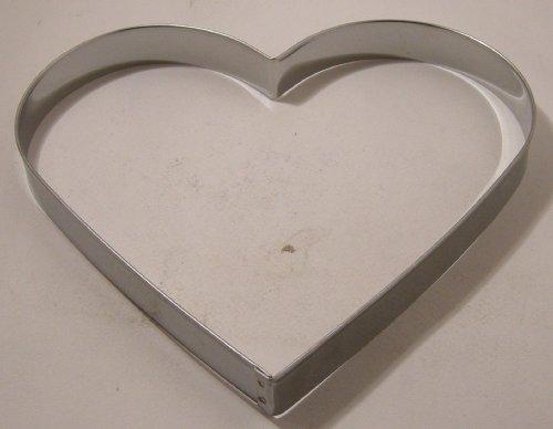 Ausstechform für Plätzchen - Edelstahl - Herz - 20 cm