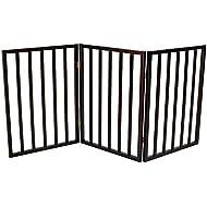 Oypla Dog Safety Folding Wooden Pet Gate Portable Indoor Barrier