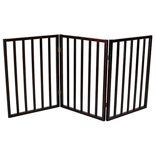 Oypla Seguridad del Perro Plegable Puerta Pet Barrier Cubierta de Madera portátil