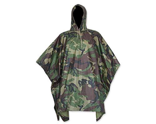 DSstyles Wasserdichte Regenjacke mit Kapuze Regen Poncho für die Jagd Camping Regen Tarnung Regenjacke