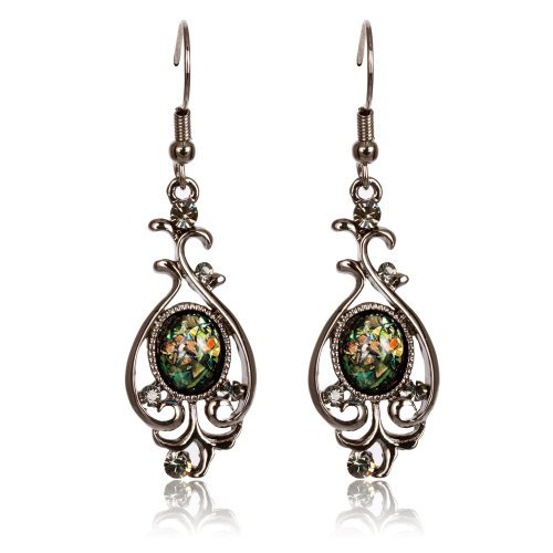 fairy-couple-damen-lange-ohrringe-schwarz-hamatit-opal-antiquitaten-vervielfaltigung-stil-e332