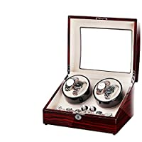 BIXINYAAN LED light Super Quiet Watch Winder Automatic Watch Motor 5 Rotation Mode Setting Fit Lady and Man,Europeanregulations