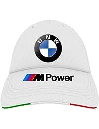 Cappello con Visiera Bianco Logo BMW MPower Motorrad Team Italia Racing  Corse Auto Moto Personalizzata Baseball a66b97427821