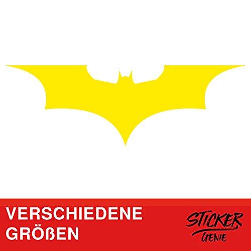 Sticker Genie Batman Auto Adhesivos Dark Knight Gotham Arkham Logo Pegatinas para Coche (50cm B x 16,5cm H M, Amarillo)