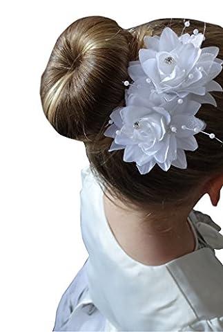 Jessidress Luxus Haarblumen Kommunion Blumen Haarclips Haarspangen Haarband Stirnbänder