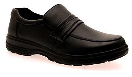 LD Outlet , Jungen Loaferschuhe Schwarz Slipper - Stil 3