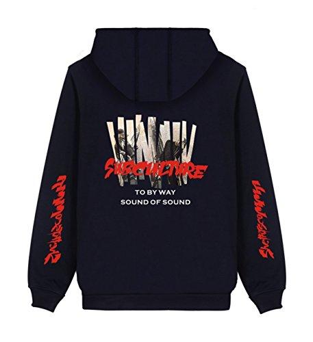SIMYJOY Lovers KPOP BTS JIMIN Fans Felpe Con Cappuccio Cool Hip Pop Pullover per Uomini Donne Adolescente Blu