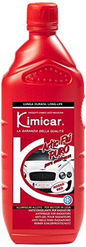 Kimicar 005R100 Artic Flu Puro Liquido Antigelo per Radiatori, 1 lt, Rosso, Set di 1