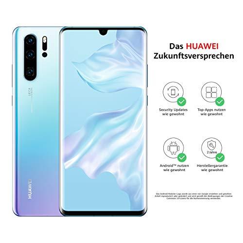 HUAWEI P30 Pro Dual-SIM Smartphone Bundle (6,47 Zoll, 128 GB ROM, 8 GB RAM, Android 9.0) Breathing Crystal + USB-Adapter [Exklusiv bei Amazon] - DE Version -