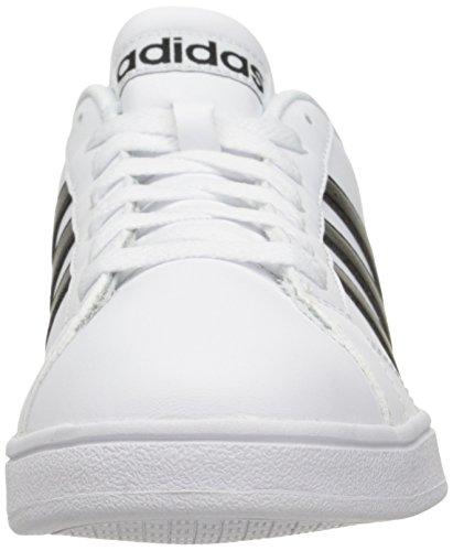 Schuh Adidas Neo Linie Basis Weiß/Schwarz/Weiß