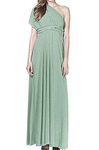 Damen Frauen Multi-tragen Kreuz Halfter Abendkleid Brautjungfer Langes Kleid Multiway-Kleid V-Ausschnitt Rückenfrei Maxikleid Sommerkleider Strandkleid Cocktailkleid Partykleid Türkis (Formale Wrap)