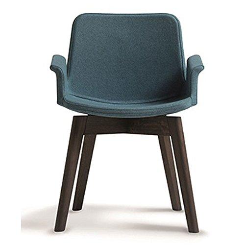 Milani poltroncina miro' con gambe in legno rovere sbiancato in tessuto comfort (grigio antracite)