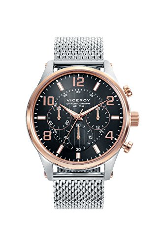 Viceroy Hommes Chronographe Quartz Montre avec Bracelet en Acier Inoxydable 46741-55
