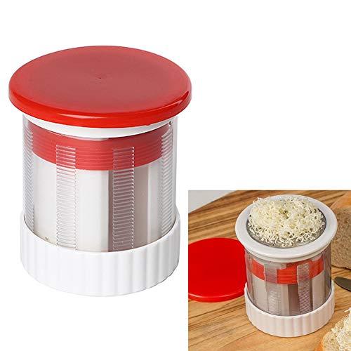 Hengbaixin - Rallador manual de acero inoxidable para queso y mantequilla, molinillo de frutas, molinillo de cocina, herramienta para suplemento de alimentos para bebés