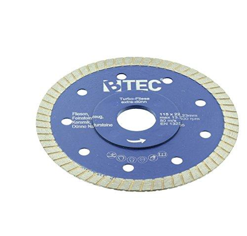Preisvergleich Produktbild Diamant Trennscheibe Turbo Fliese Ø 115 mm Bohrung 22,22 mm extradünn 1,2 mm Keramik Naturstein Steinzeug Feinsteinzeug Klinker