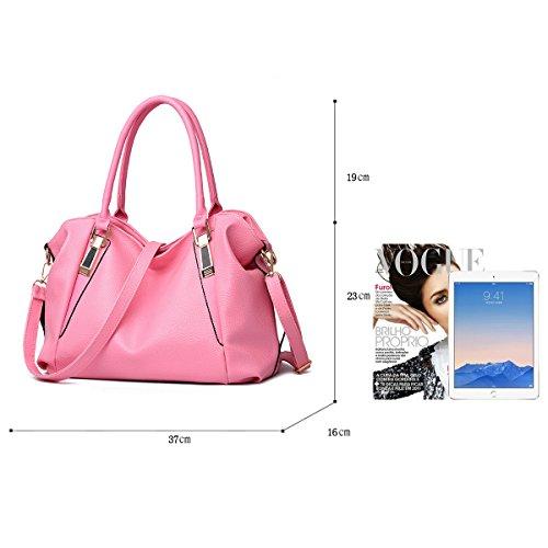 Tisdaini La nuova borsa del suolo femminile mette in mostra il grande pacchetto morbido dell'unità di elaborazione PU del raccoglitore casuale del messaggero di spalla Rosa