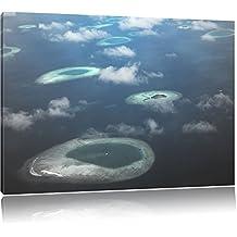 Sogno isola nel mare nero / bianco Formato: 120x80 su tela, enorme XXL Immagini completamente Pagina con la barella, stampe d'arte su murale con telaio, più economico di pittura o pittura ad olio, nessun manifesto o poster