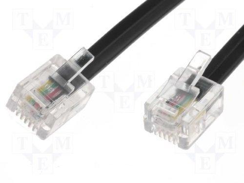 1m ADSL-Kabel - Premium-Qualität / vergoldete Kontaktstifte / High-Speed-Internet-Breitband / Router oder Modem auf RJ11 Telefondose oder Mikrofilter / schwarz