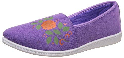 Action Shoes Women's Purple Espadrille Flats - 8 UK/India (40 EU)(BN-1124)