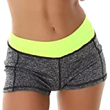 StyleLightOne Damen Hotpants Pole Dance Cheerleader Yoga Pants Shorts Fitness Neon Gelb 38 40 (XLXXL)