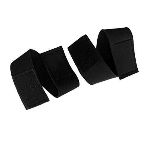 Gazechimp Neopren Hosenbänder, 1 Paar/Pack - Schwarz