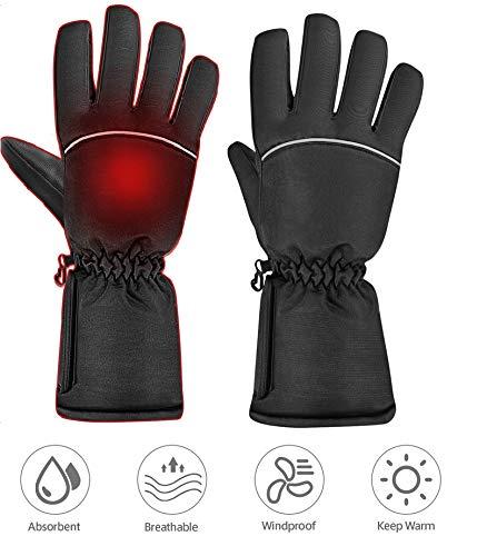 Clispeed Beheizte Handschuhe Winter warme Handschuhe Hände wärmer für Männer Frauen wiederaufladbare leichte wasserdichte isolierte warme Thermohandschuhe für den Winter im Freien kaltes Wetter -