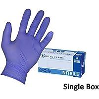 Bodyguard Scatola da 100 guanti in nitrile senza polvere usa e getta 4 blu [S]