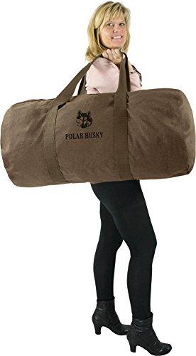 Polar Husky Canvas Seesack Universal Tasche aus reiner Baumwolle Braun