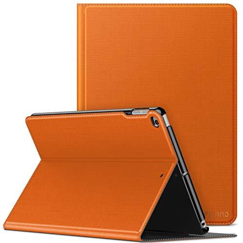 Infiland Hülle Compatible for iPad 9,7 2018/2017, (6. Generation/ 5. Generation), iPad Air/Air 2, Slim Halten Sie vorne Schutzhülle hülle mit Auto Schlaf/Wach Funktion,Orange