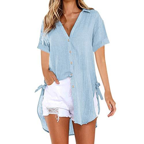 Bobopai Women's Deep V Neckline Lace Patchwork Top Long Sleeve Pullover Elegant Blouse for Women -